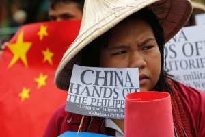 Filipino students protest in Manila against China's aggression in the South China Sea